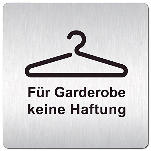 Kinekt3d Leitsysteme XXL Schild - Türschild • 125 x 125 mm • Hinweisschild Für Garderobe Keine Haftung aus 1,5 mm starkem Aluminium mit veredelter Oberfläche • schneller Versand aus Köln!