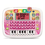 Baby tablet features a color changing screen letter buttons and piano keyboard; role-play kids electronic toy encourages electronic play Kids tablet toy teaches letters counting number order