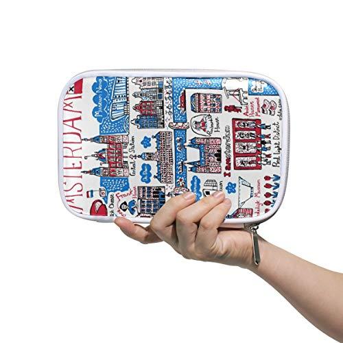 ARTWORK Amsterdam Potlood Case Cosmetische Tas Grote Capaciteit Organizer Make-up Koppeling Tas voor Travel School