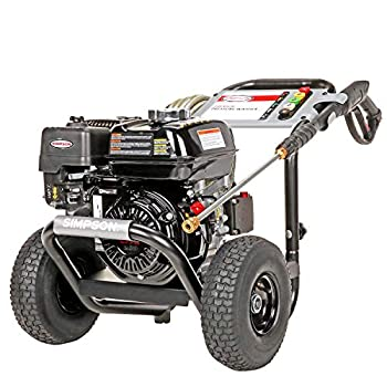 SIMPSON Cleaning PS3228 PowerShot Gas Pressure Washer Powered by Honda GX200 3300 PSI at 2.5 GPM Black