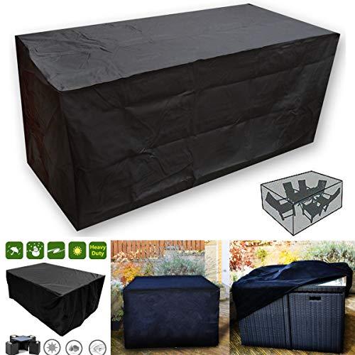 Bureze Oxbridgeblack étanche en rotin Cube extérieur Jardin Patio Meubles Housse de Protection pour Table Protection