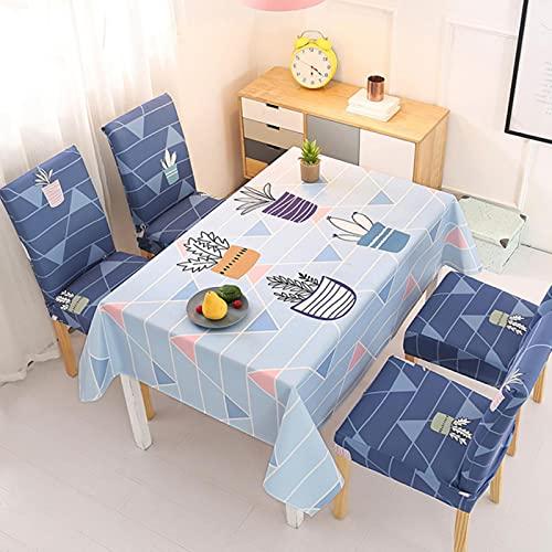 Houer Manteles y Fundas para sillas, Mantel Rectangular para Escritorio, Mantel Impermeable, Cubierta para Mesa de Comedor, Fundas para toallitas deDibujos Animados paraMesa de té