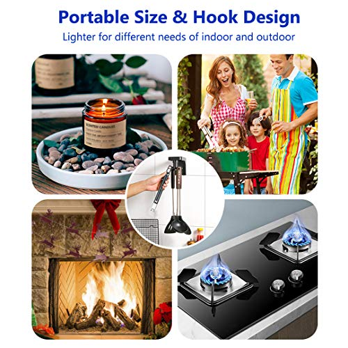 Electric Candle Lighter Long Reach, USB Rechargeable Electronic Plasma Lighter With Safety Lock, Multi Purpose Flameless…