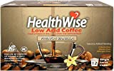HealthWise French Vanilla Low Acid Kcups, 100% Colombian, 12 count, Keurig 2.0 Compatible