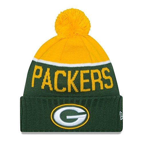 GREEN BAY PACKERS - NEW ERA BEANIE - NFL SPORT KNIT 2015 - GREEN / YELLOW