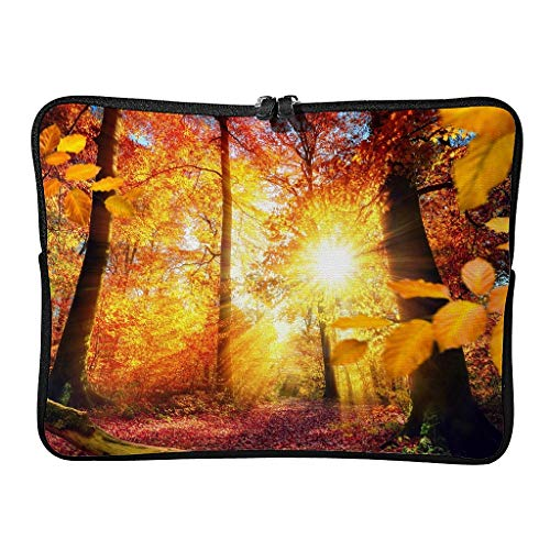 Everyday Autumn in Germany Laptop Bags Stylish Reusable - Landscape Tablet Bags Suitable for Professional Travel White 13 Zoll