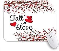 NIESIKKLAマウスパッド 恋に落ちる生命の木でいっぱいのロマンチックな春祭り赤いハート ゲーミング オフィス最適 高級感 おしゃれ 防水 耐久性が良い 滑り止めゴム底 ゲーミングなど適用 用ノートブックコンピュータマウスマット