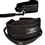 Hypeletics Weight Lifting Dip Belt - 40 inch Strap Built for Heavy Weights Replaces Chain - Padded Neoprene for Weighted Chin Ups Pull ups & Squat Workout - Home Gym & Weightlifting at Fitness Center