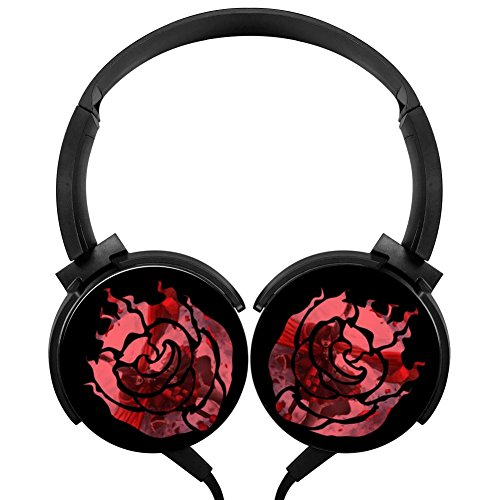 Cool Rose Girl Wired Headsets Headphones Axis Rotation Hi-Fi 3D DIY Customized Heavy Bass Stereo Headsets Headsets