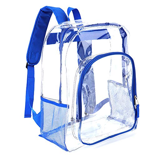 Heavy Duty Transparent Clear Backpack Plastic Bookbags See Through Backpacks