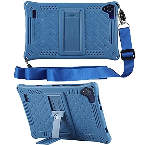 KATUMO Funda Universal Tablet 8 Pulgadas Carcasa Compatible con Samsung Galaxy Tab A 8.0 2019 (SM-T290 / T295 / T297), Teclast P80X/P80H, Funda Silicona Tablet Protectora,Azul Oscuro
