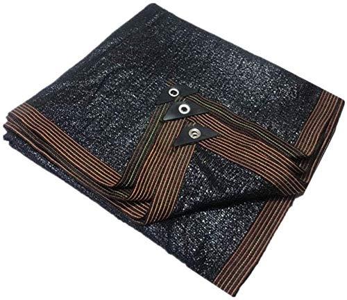 Dekzeil, grote camping tuin zwart gaas Tarp 70% schaduw doek met UV-bescherming, grote schaduw Netting voor auto's zwembad Patio gazon luifel Cover, 3mx4m/10ftx13ft Tarps