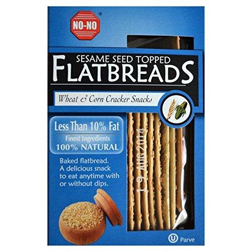 No-No Fettarme Sesamsamen Weizen Und Mais Flache Brote 125G