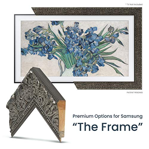 Find Bargain Deco TV Frames - Tuscan Silver Frame Custom for Any Size Samsung The Frame TV (6 Corne...