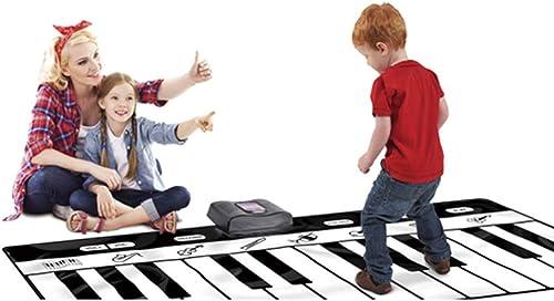 QXMEI Kinder Klavierdecke Musik Tanzmatte Krabbeln Matte Geschenk Sound Decke 180  69 cm