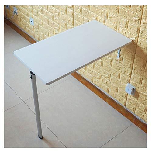 Mesa de escritorio Montado en la pared de escritorio flotante, mesas plegables de madera con bisagra durable y tornillos de montaje, carga pesada, estable y fácil de instalar flotante escritorio blanc