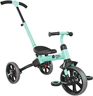Yvolution Y Velo Flippa 4-in-1 Toddler Trike to Balance Bike Push Trike| Ages 2-5 Years(Green))