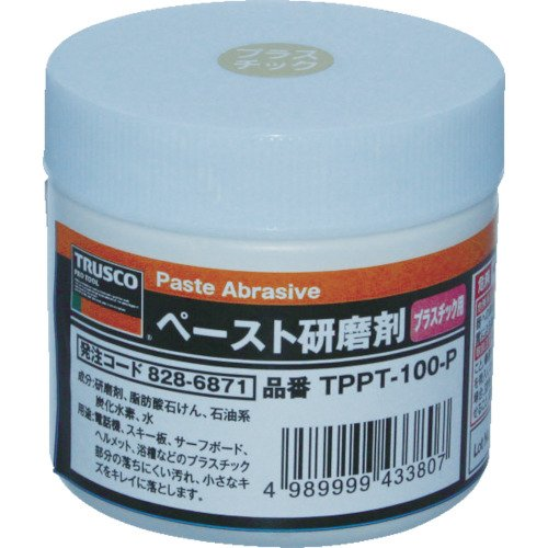 TRUSCO(トラスコ) ペースト研磨剤 プラスチック用 100g TPPT-100-P