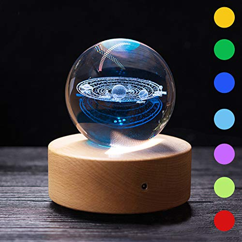 Furniture Life Crystal Ball Model, Decoration Ball in Home and Office, Best Gift for Birthday,Kids,Astronomy Enthusiast (3.15inch) (Style Three)