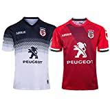 JUNBABY 2020 Toulouse Maillot De Rugby, T-Shirt De Rugby à Manches Courtes Homme, Polo Toulousain Rugby-White-M