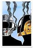 "JUNIQE® Musik Daft Punk Poster 30x45cm - Design ""Daft"
