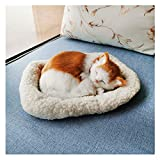Perfect Petzzz Shorthair Cat - Sleeping Cat - Breathing Pets - Realistic, Lifelike Stuffed Kitty Pet Toy - Handcrafted Synthetic Fur Real Pets Cat - Joy for All Companion Pets (A)