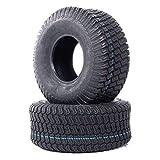 Roadstar Lawn Mower Turf Tires 15x6.00-6 Lawn Garden Tractor Golf Cart Tires 15x6x6 P332 4PR Tubeless, set of 2