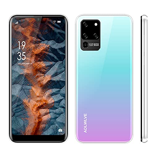 4G Moviles Libres Baratos 6,3 Pulgadas Android 9.0,32GB ROM +3 GB RAM Smartphone Libres Quad Core Teléfono Móvil 4600mAh Face ID, Moviles Baratos y Buenos GPS/WiFi/Hotspot (2*SIM+1*SD)-Blanco