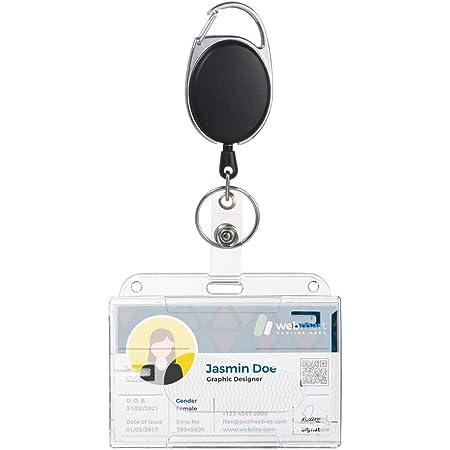 Vicloon Upgrade Porte-badge avec Yoyo et Cordon Résistant - Protection de Vos Badges Carte de Visite,Carte d'étudiants et Carte Bus de la Marque(1pcs)