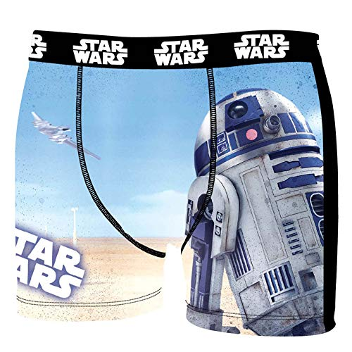 Star Wars Herren Boxershorts, R2D2, Chewbacca, Darth Vader, T-Fighter, Druide BB8 (S/4/46, R2D2)