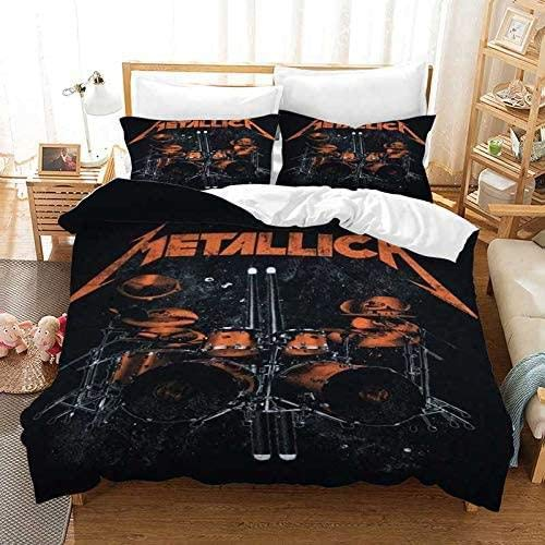 ZZX Rock Music Bed Linen 3D Printed duvet cover Pillow Cases Rock Band Bedding Sets 100% Polyester 1 Duvet Cover With 2 Pillowcases,C- 230x220 cm