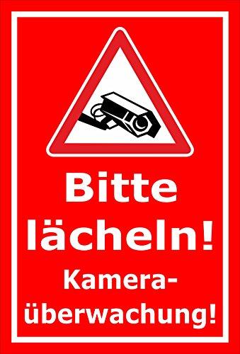 Melis folieverksstatt skylt – kameraövervakning – 45 x 30 cm | Borrhål | 3 mm hårt skum – S00349-004-D 20 VAR
