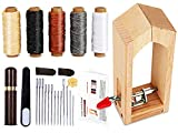 Leather Working Pony - Mini Stitching Pony for Leather, Leather Sewing Clamp,Leather Sewing Kits with Leather Needle and Thread, Thread Waxed for Leather Sewing