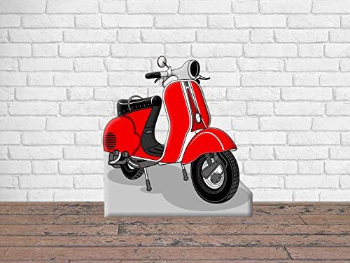 Photocall para Bodas en Cartón Moto Rojo 150x150cm | Photocall Moto Rojo | Photocall Económico y Original | Photocall Troquelado