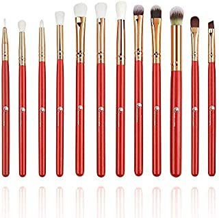 Start Makers Makeup Brushes Set with Bag - Pack of 12 ( Red )