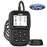 ANCEL FD500 Full System Scan Tool for Ford Lincoln, Code Reader Obd2 Scanner with Engine ABS SRS Transmission 4WD System Diagnostics, EPB/Throttle Oil Reset/Ford Battery Registration
