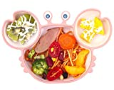 Baby Plate Silicone Suction Toddler Plates, DividedDishes for Toddler Kids,SelfFeeding,BPAFree, Microwave&DishwasherSafe
