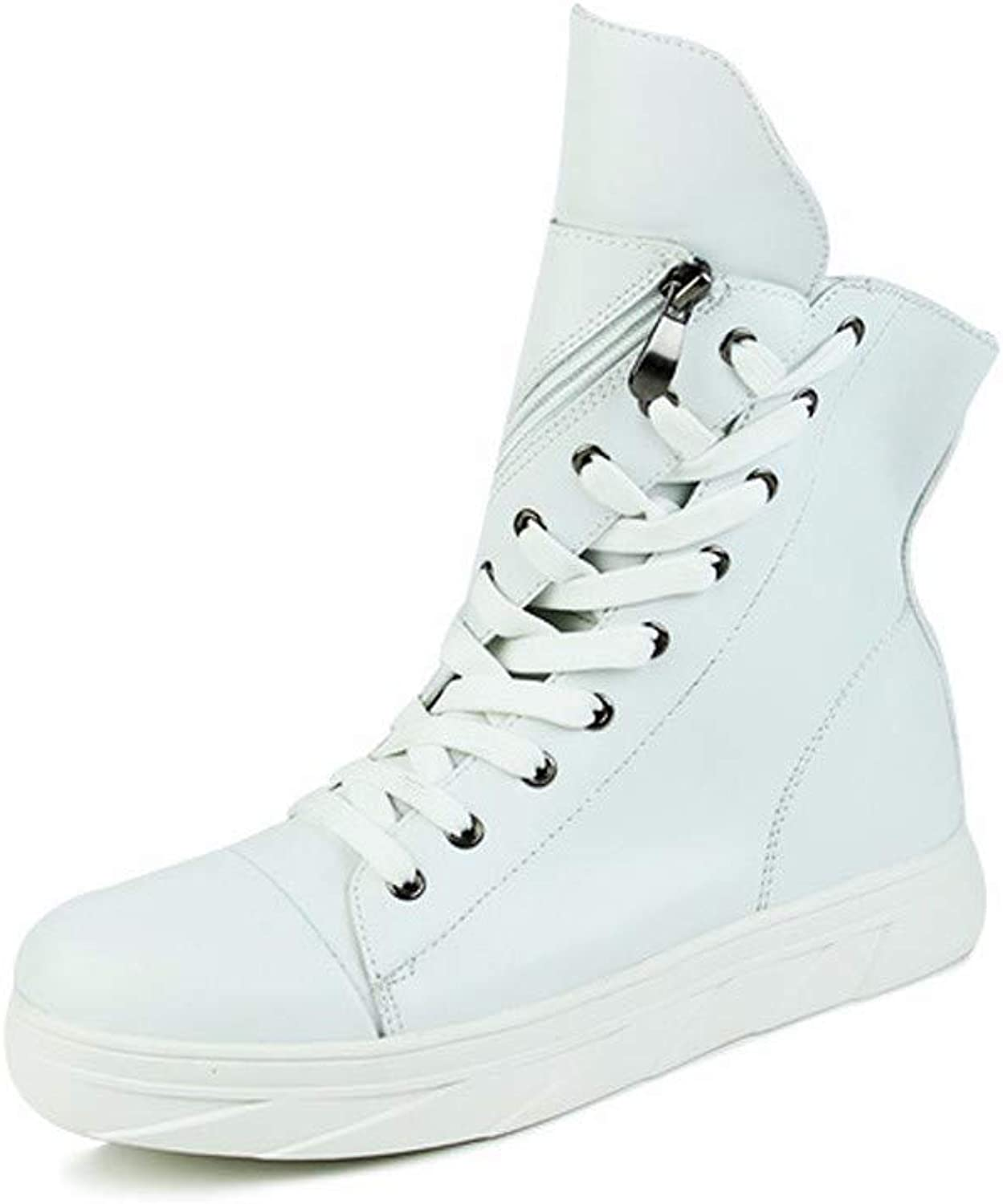 KMJBS-British Martin Boots Autumn Boots Military Boots Men'S Gang Locomotives Deserts Personalities White Forty-Four