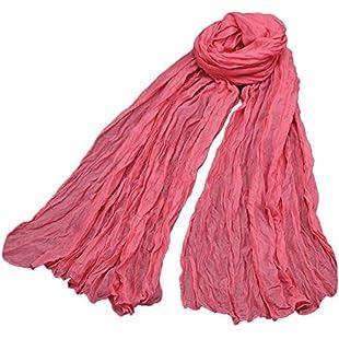 Women Scarf,QHJ Bali yarn solid color cotton candy color Printing Scarf Fashion Retro Female Multipurpose Shawl Scarf