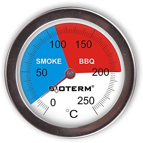 Browin 101200 Thermometer für BBQ/Räucheröfen, rostfreier Stahl, 0°C +250°C, 70mm