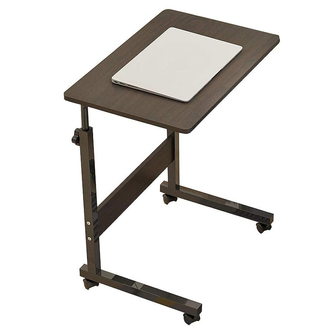 納税者シーケンス感嘆符SxsZQ 持ち上がるテーブル、プーリーのラップトップテーブルが付いている世帯の寝室の調査の移動式机のベッドサイドのダイニングテーブル 適用済み (Color : Black)