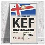 wwqtdf Reykjavik (KEF) Airline Gepäckanhänger