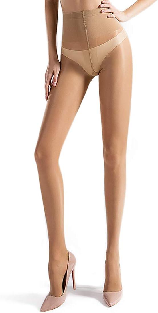 40 Denier Silky Tights Pantyhose for Women Control-Top Sheer Lace Bikini Stockings