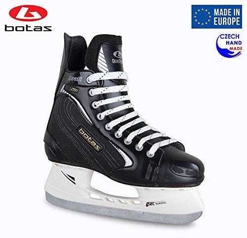 Botas Draft 281–Herren Eishockey Schlittschuhe | Made in Europe (Tschechische Republik) | Farbe Schwarz, Schwarz, Adult 14