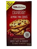 Thin Addictives Cranberry Almond Thin Cookies (33% More Almonds) 2 bxs. x 1.27 lbs (Pack of 2)