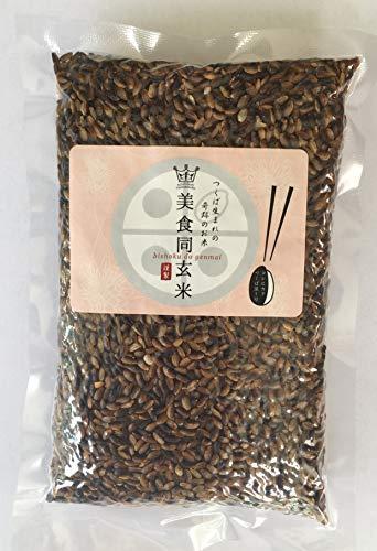 古代米のパワーを受け継ぐコシヒカリ新品種『美食同玄米』玄米300g つくば産 コシヒカリつくば黒1号