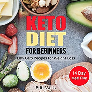Keto Diet for Beginners     Low Carb Recipes for Weight Loss - 14 Day Meal Plan              By:                                                                                                                                 Britt Wells                               Narrated by:                                                                                                                                 Betty Johnston                      Length: 1 hr and 57 mins     25 ratings     Overall 5.0