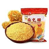globalqi 230 g de Migas de Pan Amarillo Adecuado, sartén de Aire Sazonador Pan rallado con Sabor y harina de arroz para Pollo, chuletas de Cerdo y Verduras