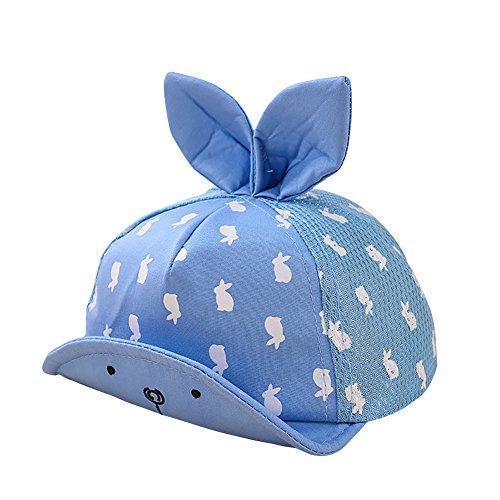 E-House Bonnet à capuchon pour bébé Motif dessin animé Bleu - Bleu - Taille Unique