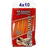 Wilkinson Pronto - Cuchillas de afeitar desechables (4 unidades, 10 unidades cada uno)